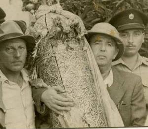 רפאל עבו ופסח בן אורי 1950